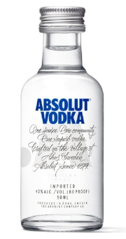 ABSOLUT VODKA 0,05L 1/120 40% x 12
